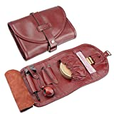 firedog Pipe Tobacco Pouch, Travel Genuine Leather Somking Tobacco Pipe Bag Case for 2 Pipes Accessories
