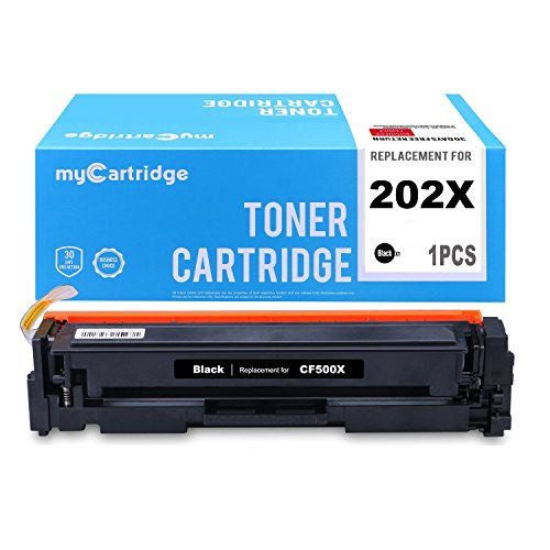 (MYCARTRIDGE 1 Pack Compatible Replacement for HP 202X CF500X Black Toner Cartridge High Yield High Capacity Fit for HP Color LaserJet Pro MFP M281cdw M280nw Printer)