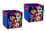 Level-5 Yo Kai 2 Pack Storage Cubes, Organization, Kids, Collapsible Storage Cubes, Multicolor