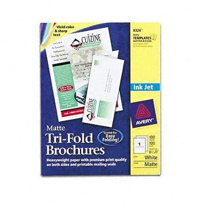 amazon com ave8324 avery tri fold brochures for inkjet printers