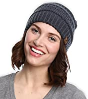 Cable Knit Beanie by Tough Headwear - Thick, Soft & Warm Chunky Beanie Hats for Women & Men - Serious Beanies for Serious Style (with 8+ Colors)