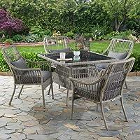 Deals on Better Homes & Gardens Belfair 5-Piece Patio Wicker Dining Set