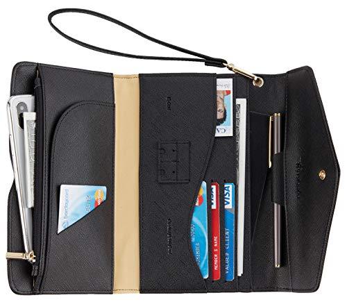 Travelambo Rfid Blocking Passport Holder Wallet & Travel Wallet Envelope Various - Fold Wallet Passport