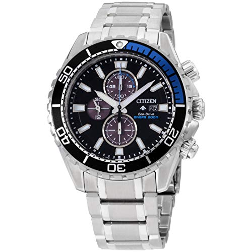Men's Citizen Eco-Drive Promaster Chrono Diver Black Watch CA0719-53E