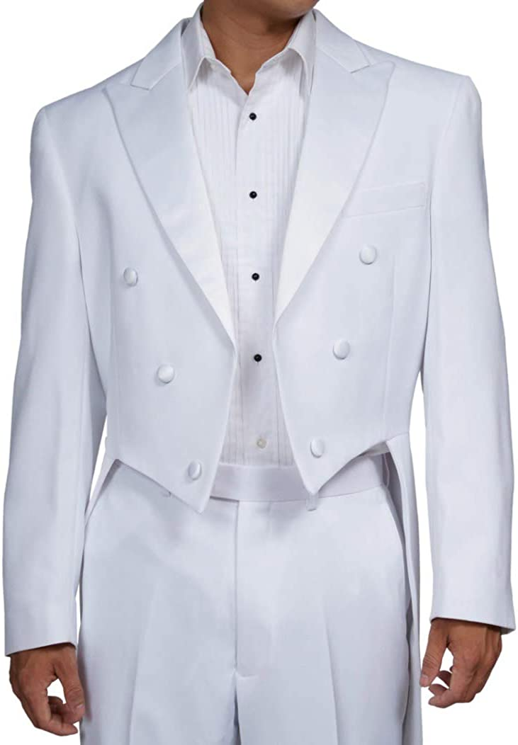 New Era Factory Outlet Mens White Tuxedo Tails Includes Tailcoat and Tuxedo Pants