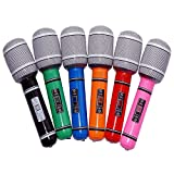 NUOLUX 6pcs Inflatable Microphone Party Favor Kids Toy Gift , assorted colors