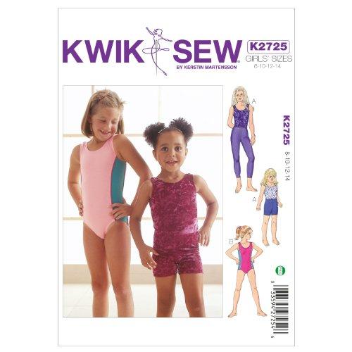 Kwik Sew K2725 Leotards Sewing Pattern, Leggings and Shorts by KWIK-SEW PATTERNS