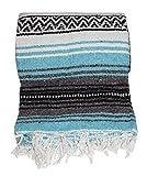 Roger Enterprises Authentic Mexican Falsa Blanket (Turquoise)