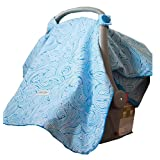 Carseat Canopy (Noa) Baby Infant Car Seat Cover W/attachment Straps and Minky Fabric