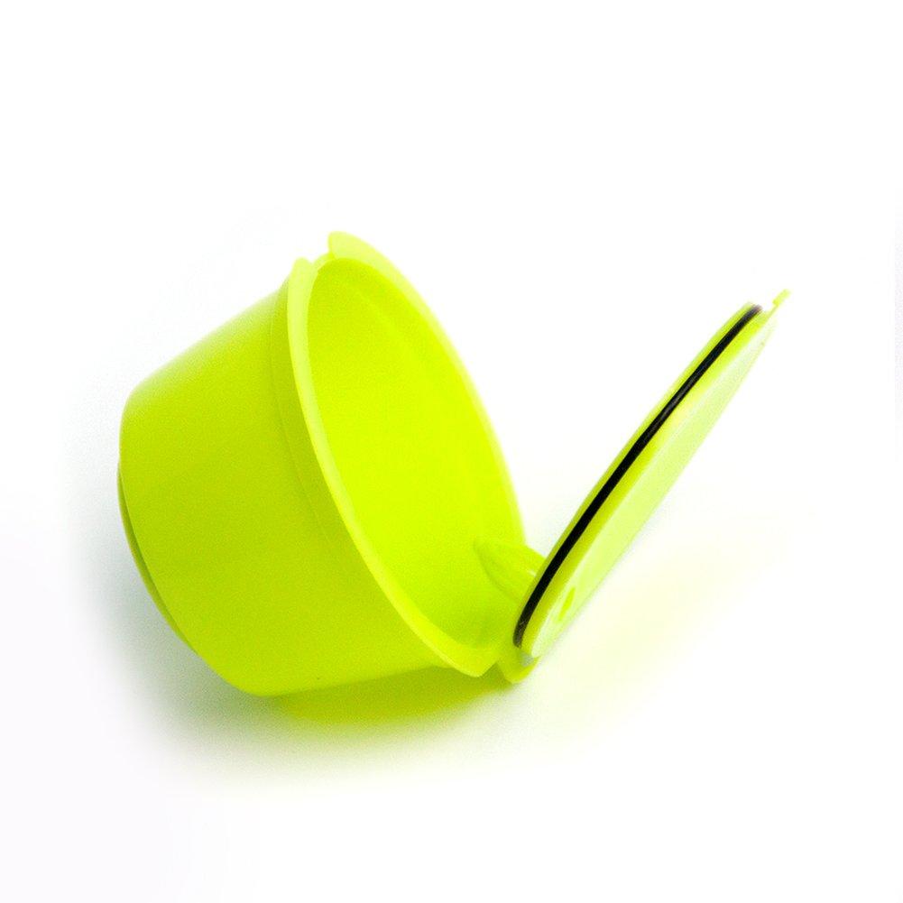 adattatori per capsule da caff/è ricaricabili e riutilizzabili FAVOLOOK accessori adatti alle macchinette per caff/è Dolce Gusto Taglia libera White