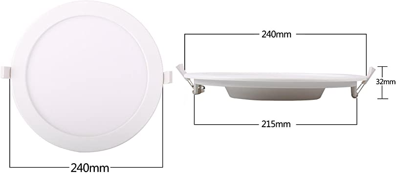 Aigostar- Downlight LED redondo plano 20W Luz Blanco Frío 6000K ...