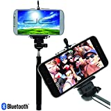 Extendable Bluetooth Selfie Stick Monopod for all Smartphones and Iphones, iPhone 7 7 Plus 6 6 Plus 5 5s 5c, iOS, Android, Samsung Galaxy S7/Edge S6/Edge 5/Note 5 4/Note 4 with Remote Shutter Button