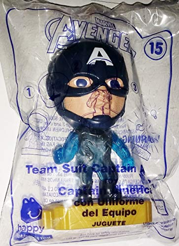 McDonald's 2019 Avengers Team Suit Captain America Happy Meal Toy