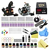 Wormhole Tattoo Complete Tattoo Kit for Beginners Tattoo Power Supply Kit 10 Tattoo Inks 20 Tattoo Needles 2 Pro Tattoo Machine Kit Tattoo Supplies TK1000040