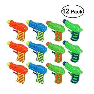 TOYMYTOY Acqua pistola Squirt pistola di plastica per bambini confezione da 12 (colore casuale) 7 spesavip