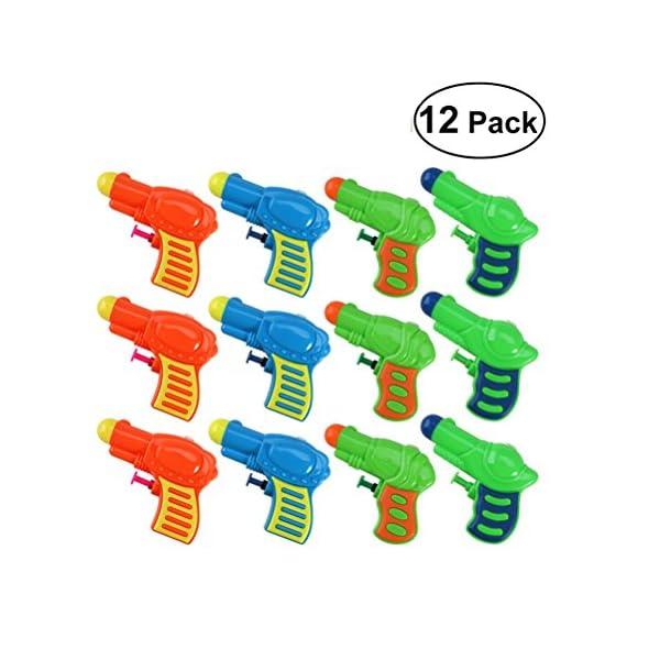 TOYMYTOY Acqua pistola Squirt pistola di plastica per bambini confezione da 12 (colore casuale) 1 spesavip