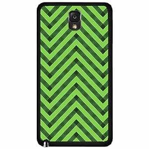 Light Green and Dark Green Chevron - Plastic Phone Case Back Cover (Samsung Galaxy Note III 3 N9002)