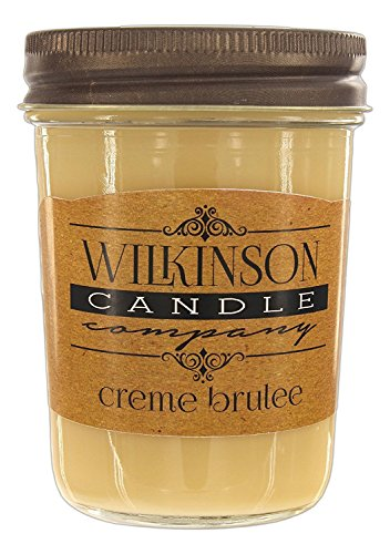 Wilkinson Candle Co. Jam Jar Soy-Lotion Candle (8 Ounce, Crème Brûlée) (Soy Candle Brule Creme)