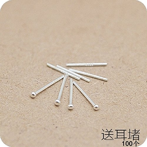 999 Silver Earrings Earring Dangler Eardrop Ear rods Women Girls Creative Gift s925 Hypoallergenic Acupuncture Support Small (Ordinary Ear rods 10 (See BEG Your Size) PYHIME