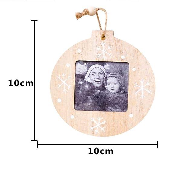 Amazon.com: Wooden Photo Frame Photo Pendant Innovative Crafts Christmas Decorations DIY Ornaments Pendant Pendant