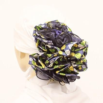 06aca753de Hijab Volumizer Khaleeji Large Flower Hair Clip, Navy Blue Scrunchie Skull  Face Design: Amazon.co.uk: Kitchen & Home