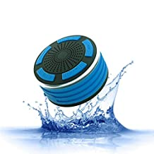 Waterproof Bluetooth Speaker, IPX7 Water Resistence Shower Speaker, 5W Driver Portable Speaker, 8 Hours Playtime, 33 Feet Bluetooth Range, Built-in Mic, Led Light, FM Radio