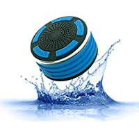 Wireless Bluetooth Speaker, IPX7 Waterproof Shower Speaker, 5W Driver Portable Speaker, 8 Hours Playtime, 33 Feet Bluetooth Range, Built-in Mic, Led Light, FM Radio