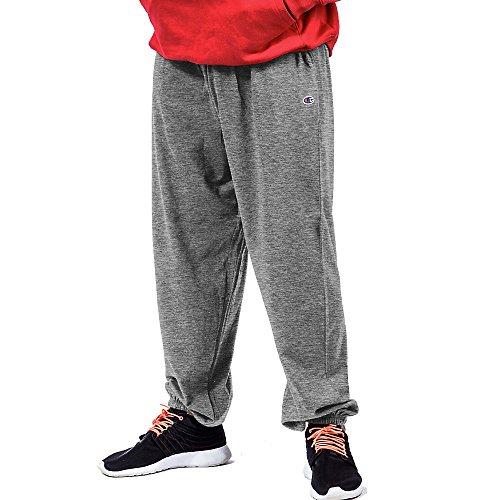 Champion Big & Tall, pantaloni tipo tuta in tessuto felpato, da uomo Grigio Heather Grey