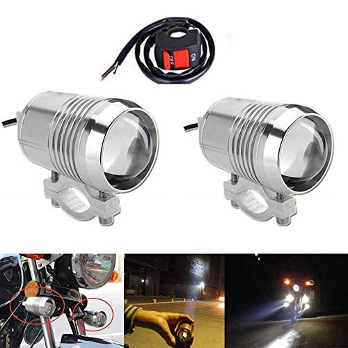 Strobe Mini Light Auxiliary - GOODKSSOP 2PCS Super Bright CREE U2 30W LED Spotlight Headlight Work Light Driving Fog Spot Lamp Universal for All Motorcycle ATV Truck With 1pcs ON/OFF Button Switch