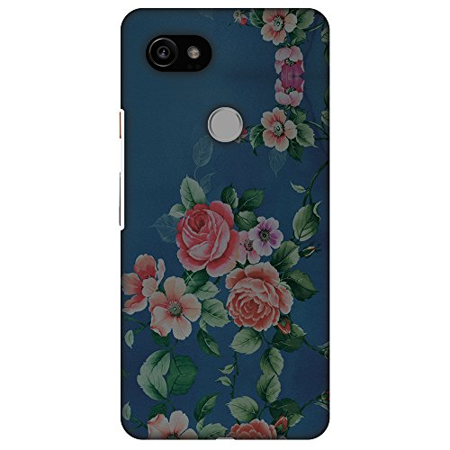 AMZER Slim Fit Handcrafted Designer Printed Hard Shell Case Back Cover Skin for Google Pixel 2 XL - Rose Print Provencal HD Color (Provencal Print)