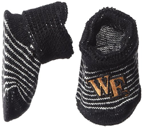 Two Feet Ahead NCAA Wake Forest Demon Deacons Infant Stripe Gift Box Booties, New Born, -