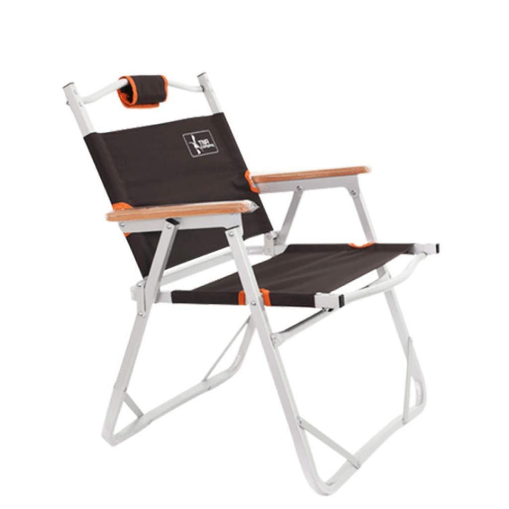 WANG Leichte kompakte Falten Camping Rucksack Stuhl tragbare atmungsaktiv Komfort perfektes Wandern Angeln Camping (Farbe   braun)