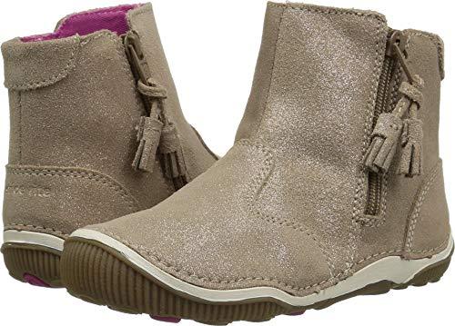 Stride Rite Girls' SRT Zoe Ankle Boot, Light Gold, 8 M US -