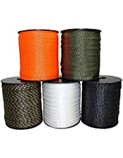 SGT KNOTS Polyester FlatRope/Arbor Webbing/Utility Touw 5/8-Inch x 100, 300, 500 Voet Spools - Verschillende Kleuren