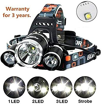 Set Of 2 Lightweight Vehicle Led Flashlights Blue and Silver