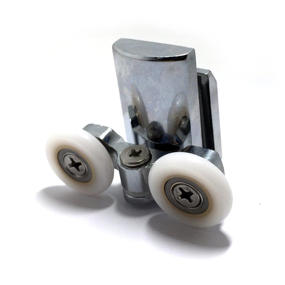 Suave 2/x doble fondo de aleaci/ón de zinc puerta de la ducha rodillos//corredores//ruedas 20/mm di/ámetro de la rueda