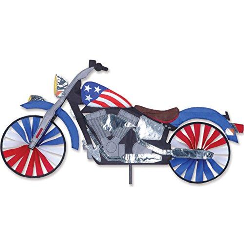 - Premier Kites 32 in. Motorcycle Patriotic Spinner