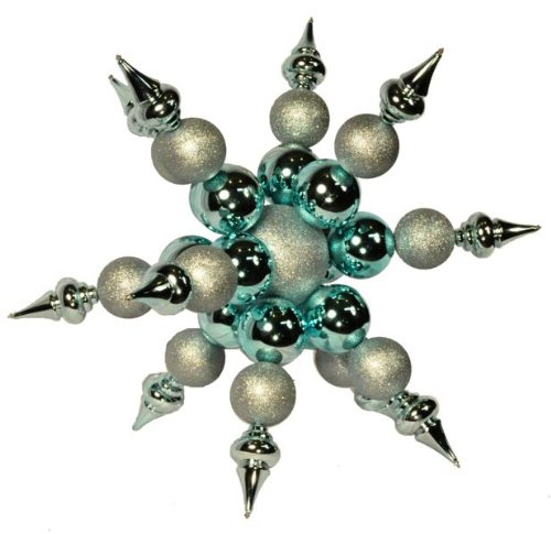Queens of Christmas WL-ORN-SF-BL Starburst Ornament, 3', - Starburst Ornament Blue