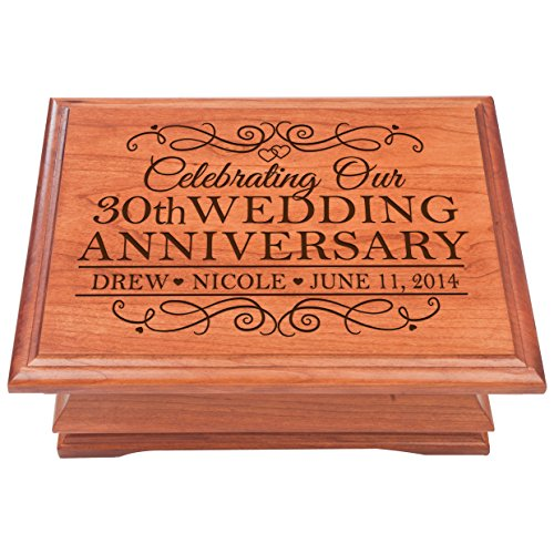 Personalized 30th Wedding Anniversary for couple Jewelry Storage keepsake Box for Couple 30 Year gift ideas by Dayspring