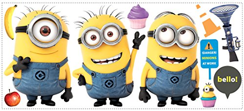 Roommates Rmk2081Gm Despicable Me 2 Minions Giant Peel And Stick Giant Wall Decals -