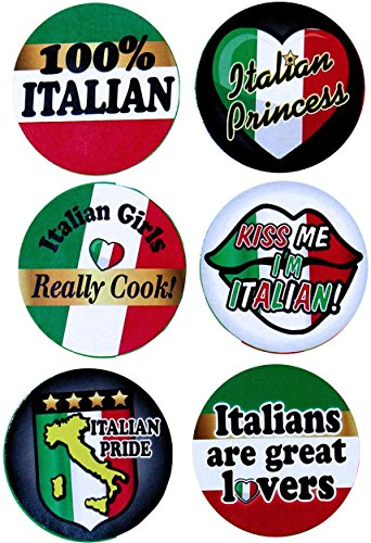 Italian Day Costumes (Italian Pride Festival Party Buttons Italy Independence Day Costume Accessory)