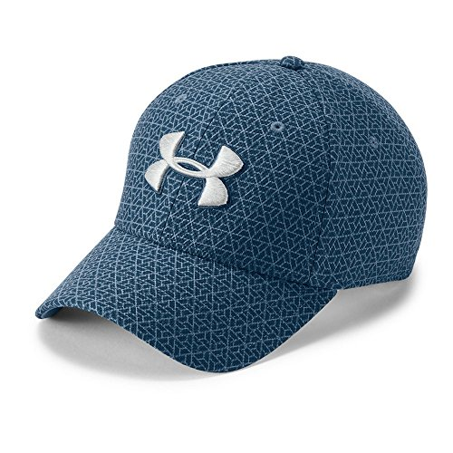 - Under Armour Men's Printed Blitzing 3.0 Stretch Fit Cap, Static Blue (414)/Elemental, Large/X-Large