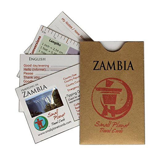 Small Planet Travel Cards – Quick Phrase and Culture Reference Guide - Zambia...