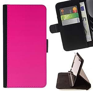Momo Phone Case / Flip Funda de Cuero Case Cover - Color Fucsia Rose Cerie Magenta - Samsung Galaxy Note 5 5th N9200