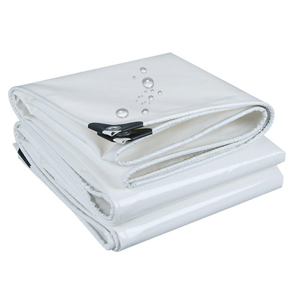 CHAOXIANG オーニング 厚い 防水 日焼け止め 耐寒性 耐高温性 耐食性 耐摩耗性 防風 防湿性 PVC 白、 530g/m 2、 厚さ 0.45mm、 17サイズ (色 : 白, サイズ さいず : 4×7m) B07DBP6WP2 4×7m|白 白 4×7m