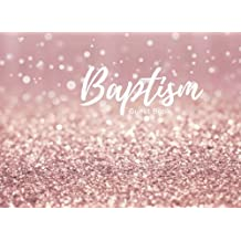 """Baptism Guest Book: PinkMessage Book 