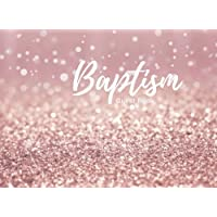 "Baptism Guest Book: PinkMessage Book | Keepsake | 100 Pages With Pattern Border | Use At Christenings, Naming Ceremony, Baby Dedications | 8.25"" X 6"" Small 