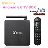 3GB/32GB MAX X98 PRO Metal Android 6.0 Smart TV Box Amlogic S912 Octa Core Support H.265 4K VP9 Media Player