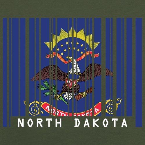 North Dakota / Nord-Dakota Barcode Flagge - Herren T-Shirt - Olivgrün - XXL