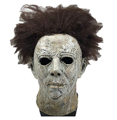 Yacn Movie Halloween 2018 Michael Myers Mask wiht Beauty Hair,Overhead Mask Adult Cosplay ()